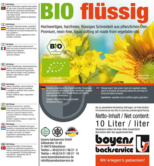 Bio flüssig Trennmittel