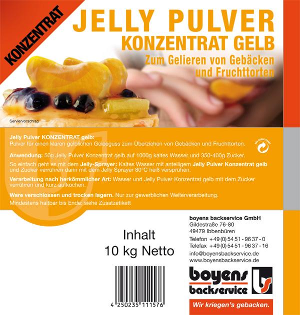 Jelly Pulver Konzentrat Gelb