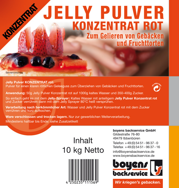 Jelly Pulver Konzentrat Rot