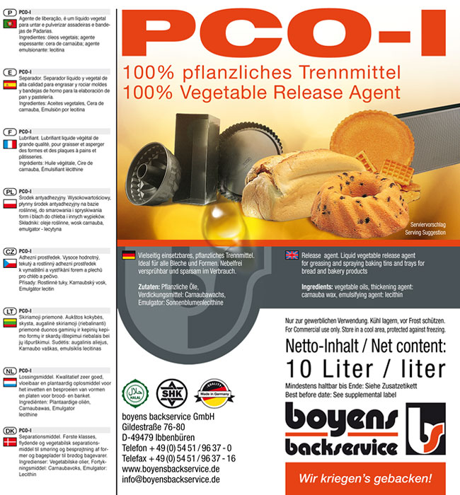 PCO-1 Formen Trennmittel