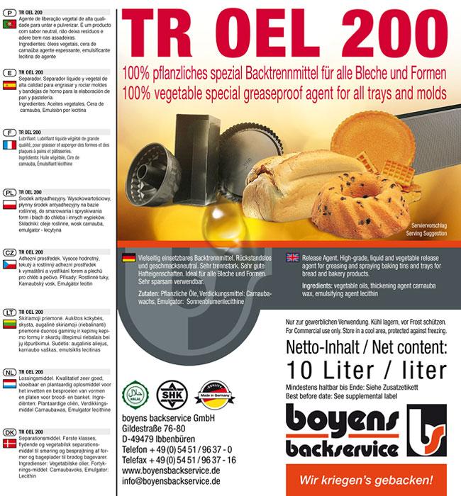 TR Oel 200 Formen Trennmittel
